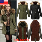 womens long winter coats - Women Warm Winter Parka Long Coat Fur Hoodie Slim Fleece Quilted Jacket Outwear