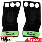 Bear KompleX Grips | 3 Hole | Green Suede | CrossFit Pull-up Gym Gloves