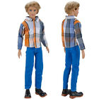 E-TING Long Sleeve Shirt Trousers Outfit Clothes Clothing For Barbie Ken Doll S