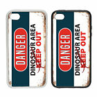 WTF | Danger - Dinosaur Area | Rubber or plastic phone cover case | #1 Keep Out