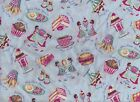 Retro Mid Century Modern  50's Diner Fabric Fat Quarter Rare Out of Print