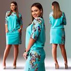 Summer Women Sports Floral Print Sexy Bodycon Mini Dress Party Cocktail OL Dress