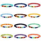 7 Chakra Healing Beaded Bracelet Lava 8MM Stone Beaded Diffuser Bracelet Jewelry