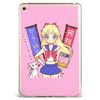 Anime Sailor Moon Cute White Cat Soft Silicone Case Cover For Samsung iPad