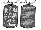 ELECTRICIAN'S PRAYER Dog tag Necklace or Key chain + FREE ENGRAVING