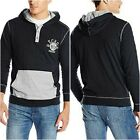 Ecko Unltd Mens Hooded Slub Jersey Sweater Hoodie Black