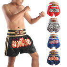UK New Boxing Shorts Muay Thai Kick Boxing Fighting MMA Satin Lined design M-3XL