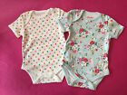 **Cath Kidston** Baby Bodysuit - 2 Pack - in Clifton Rose & Spot - BNWT