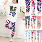 1-12 Years Baby Girl Leggings Pants Kids Toddler Floral Pattern Trousers Bottoms