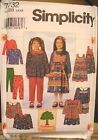 Simplicity 7732 Girls Jumper Dress Pants Top MANY SIZES OOP