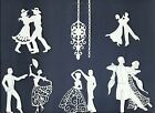 LOTS 5-18 PCS. SUB-SETS DANCING DIE CUTS* *READ* BALLROOM COUPLE PROM CHANDELIER