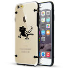 For iPhone SE 5 5s 6 6s 7 Plus Clear TPU Hard Case Cover Bearded Dragon Lizard