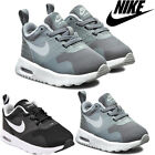 New Infants Boys Sports Lace Up School Grey Nike Tavas Leather Trainers Shoes UK