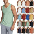 Mens TANK TOP Shirt Casual Basic Classic Gym Jersey Athletic Solid Beach Tee image