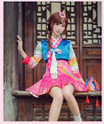 D.VA New Spring Skin Uniform Cos Cosplay Costume Dress+lucky bag+headdress