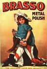 Vintage Brasso Advertising Poster A3 / A2  Reprint