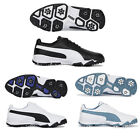 Puma Grip Cleated CLASSIC Men's Golf Shoes (White, Black, Blue)  UMFWFG US 7-10