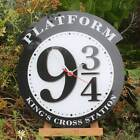 Platform 9 3/4 Clock, Harry Potter Clock, Hogwarts wall Clock, Large Train Clock