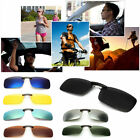 Lens UV400 Sunglasses Polarized Clip On Driving Glasses Day Night Vision UK