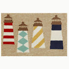 Trans-Ocean Front Porch Rug - Lighthouses