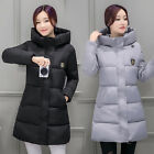 2017 Fashion Winter Women Down cotton Long Coat Hooded Jacket Ladies Parka