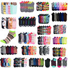 Girl Women Mixed Assorted Designs Color Ankle Socks Wholesale Lot size 6-8 9-11