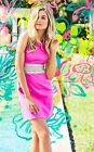 $198 Lilly Pulitzer ASHLYN Shift Dress Magenta Pink size 4 S #23233