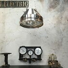 Vintage Industrial Light - Aluminium & Iron Ceiling Pendant-Glass Lens & Cage