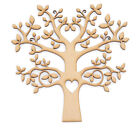MDF Tree Shape Wooden Craft Blank  Wedding Guestbook Family Tree Heart Cutout
