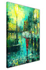 Abstract Umbrella Oil Painting Re-Print on Framed Canvas Art Pictures Home Décor