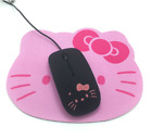 Fashion 10 Color Cartoon Hello Kitty Design Mouse with Pad for Computer/TV