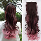 Beautiful Wig Curly Hair Clip Ponytail Pony Ombre Color Claw Hair Tail Extension