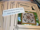 Chatelaine Workshop Cross Stitch CHART Pack-75x75 Stitches -Your Choice-Martina