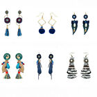 Female Many New Styles Vintage Seashell Tassel Crystal Long Earrings Beauty Gift