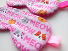 Meow Sleep Mask Girl Woman Blindfold Eye Shade Kid Travel Cover Cute Toddler NEW