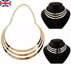 Fashion Jewellery Gold Silver Chain Choker Chunky Statement Bib Collar Necklace