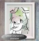 Disney Characters Poster Picture Print Photo wall Art Decor gift Character