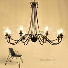 Nordic Iron Glass Loft Chandelier Ceiling Light Hotel Living Room Pendant Lamp