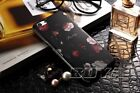 Flower Patterns Phone Case for iPhone 8 Plus Hard PC+TPU Jewellry Plated Cover