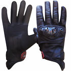 Leather Motorcycle Gloves Motorbike Racing Street Knucle Protection Biker Gloves