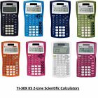 Texas Instruments TI 30X IIS 2 Line Scientific Calculator Algebra Geometry Maths