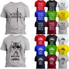 GAME OF THRONES T SHIRT THE NORTH WALL WINTER IS COMING TEE Gift T-Shirt
