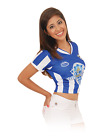 Honduras Women Blue Soccer Jersey Arza Design_Slim Fit_V Neck_100% Polyester.