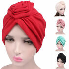 Muslim Lady Stretch Cotton Rose Head Scarf Cap Cancer Chemo Turban Cap Head Wrap