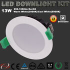 LED DOWNLIGHTS KIT 13W DIMMABLE 90MM CUTOUT WARM OR COOL WHITE DOWN LIGHT 5 YEAR
