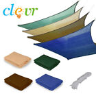 Clevr Outdoor Patio UV Sun Shade Sail Canopy Cover, Various Colors and Shapes