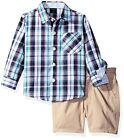 Nautica Childrens Apparel Baby Boys Long Sleeve Printed Button Down and