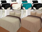 NEW DESIGNS PINSONIC REVERSIBLE SOLID QUILT BEDDING SET WITH PILLOW CASES 2 3PC