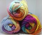 ICE YARNS MAGIC BULKY SELF STRIPING CHUNKY WOOL/YARN/TINSEL - 100g - 3 COLOURS