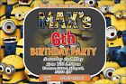 MINIONS DESPICABLE ME BIRTHDAY PARTY INVITATION INVITES boy girl any name/age